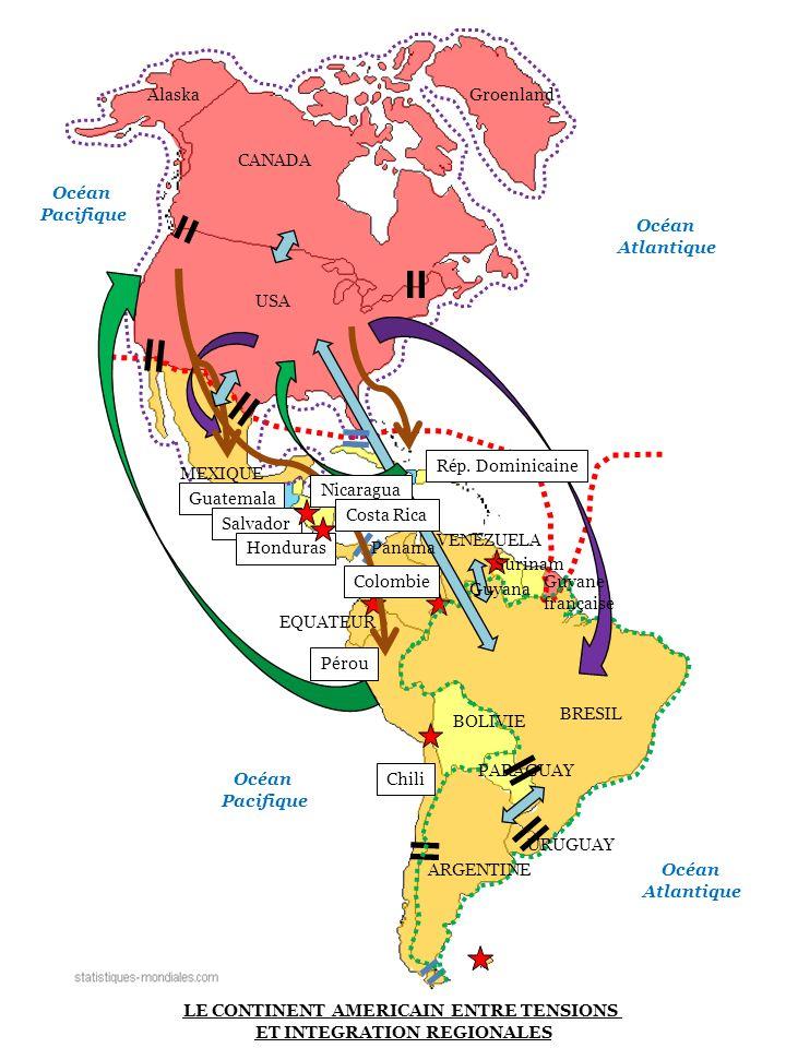 LE CONTINENT AMERICAIN ENTRE TENSIONS ET INTEGRATION REGIONALES