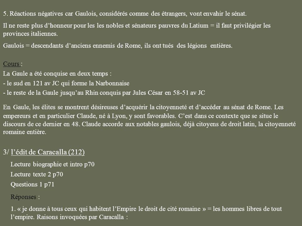 3/ l'édit de Caracalla (212)
