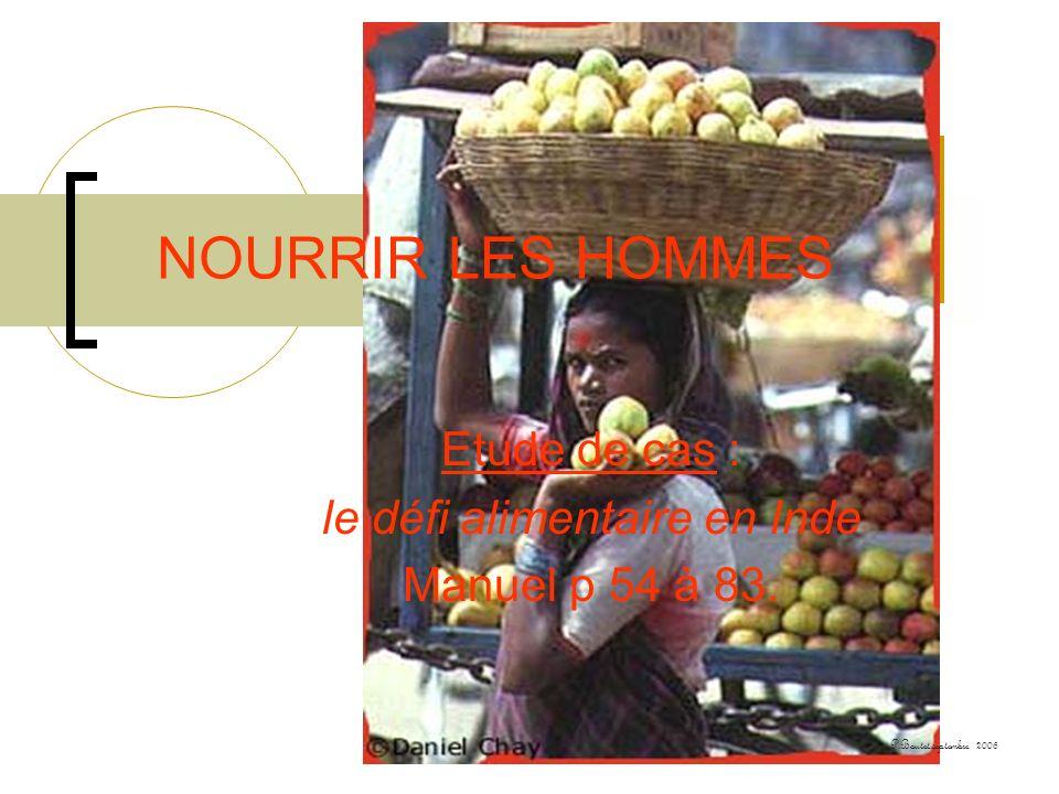 Etude de cas : le défi alimentaire en Inde Manuel p 54 à 83.