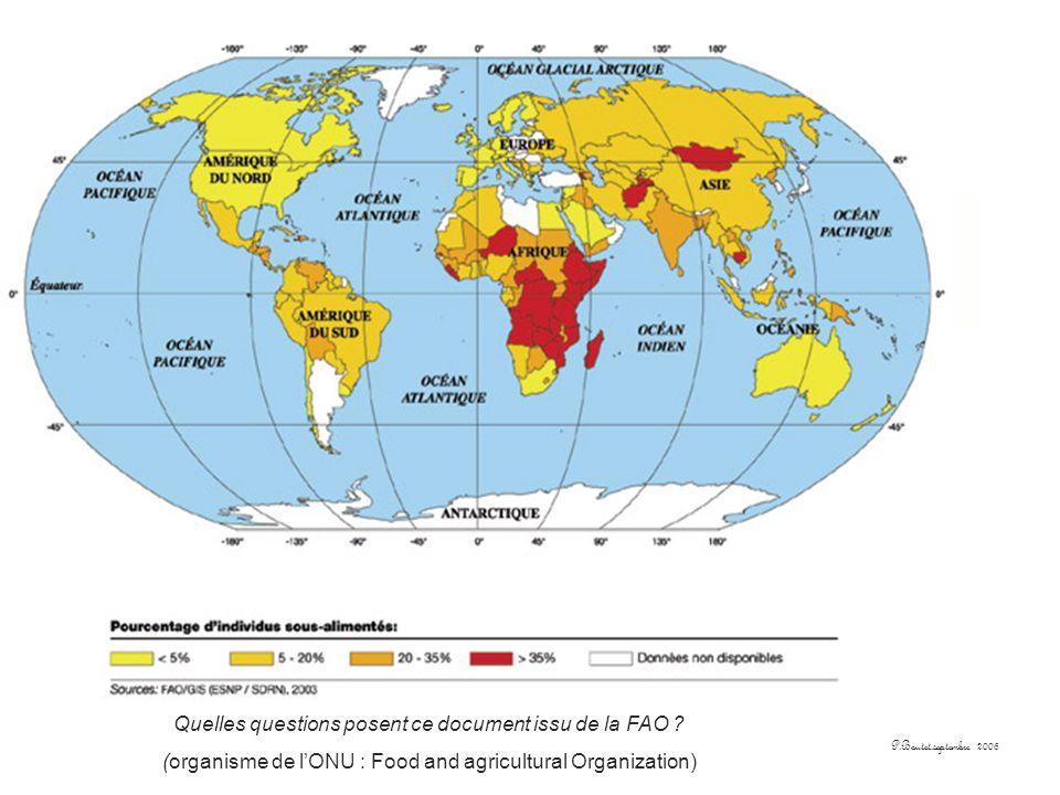 Quelles questions posent ce document issu de la FAO