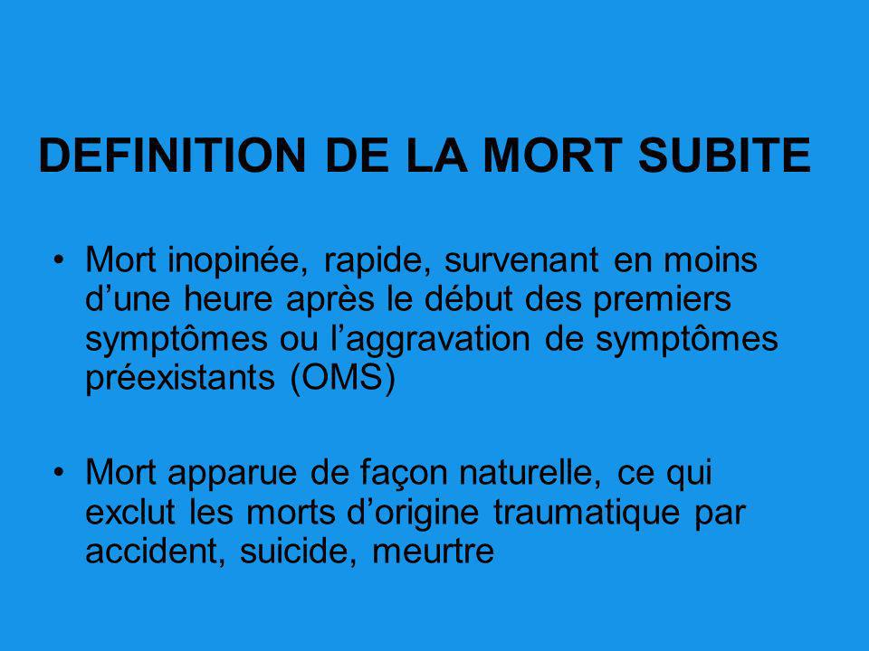 DEFINITION DE LA MORT SUBITE