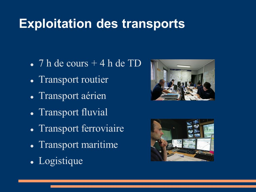 Exploitation des transports