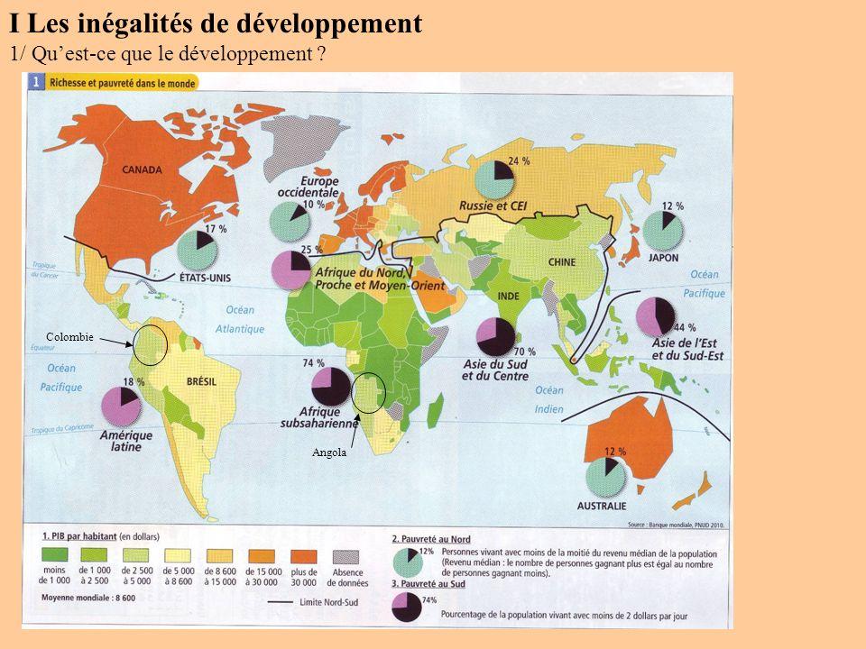 I Les inégalités de développement