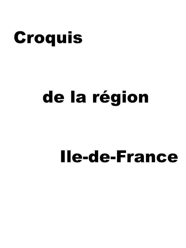 Croquis de la région Ile-de-France