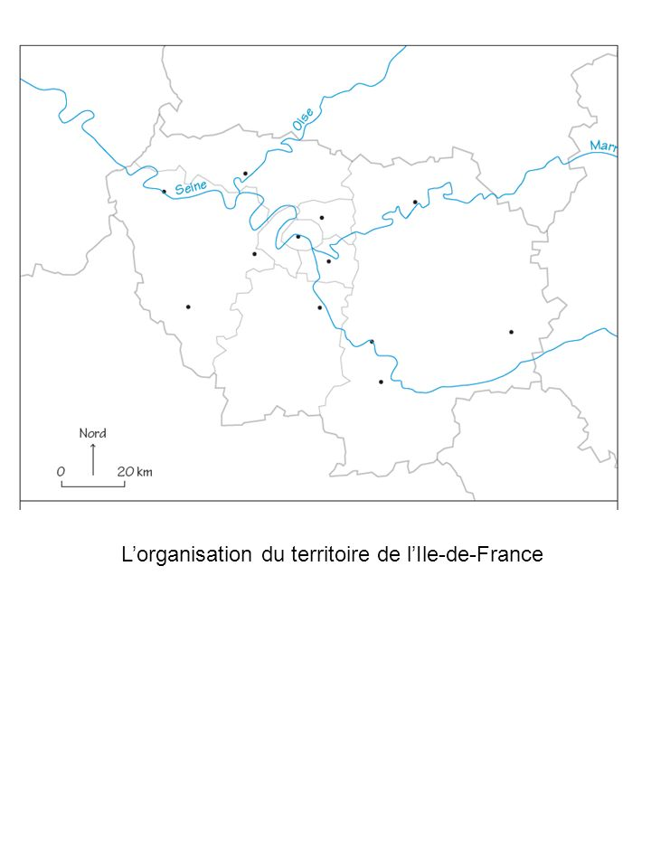 L'organisation du territoire de l'Ile-de-France