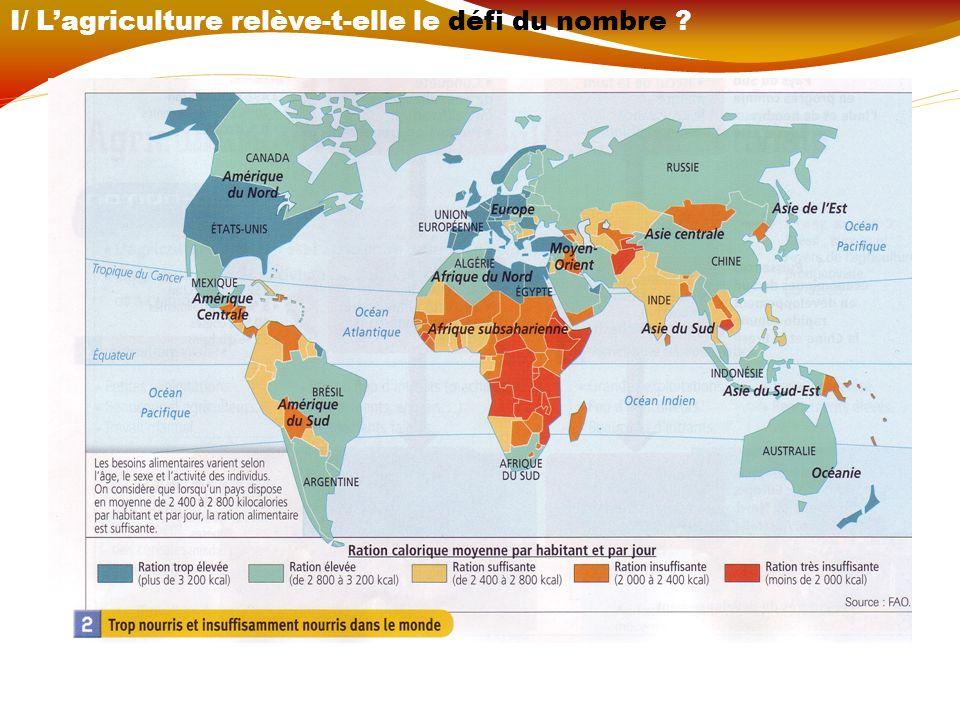I/ L'agriculture relève-t-elle le défi du nombre