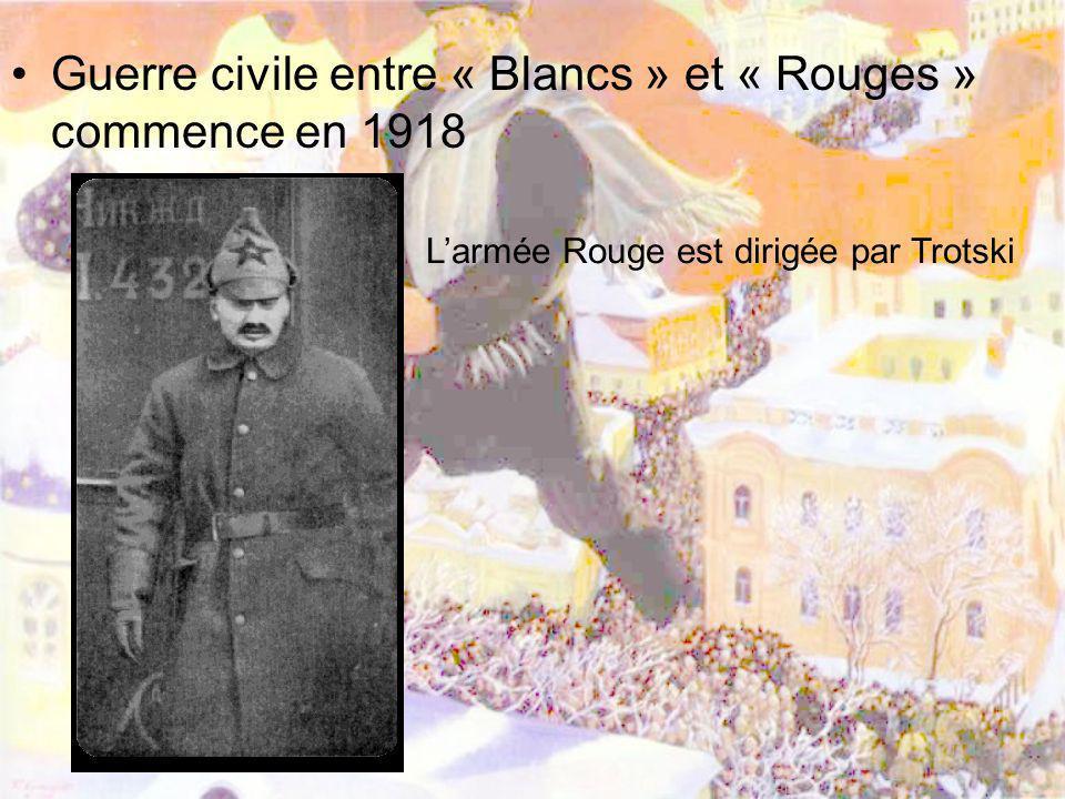Guerre civile entre « Blancs » et « Rouges » commence en 1918