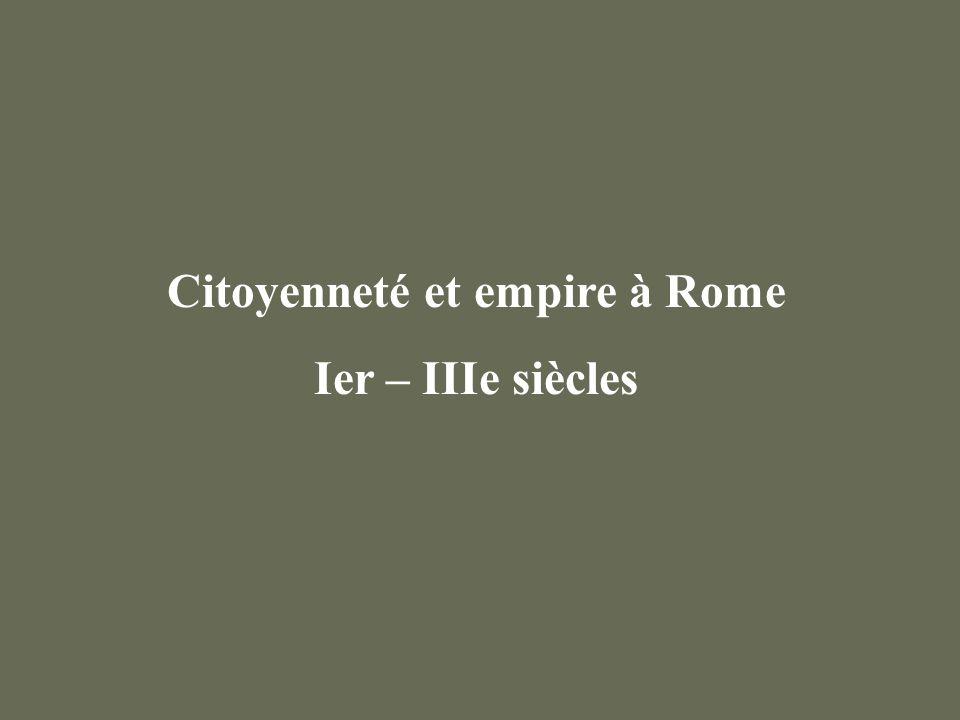 Citoyenneté et empire à Rome