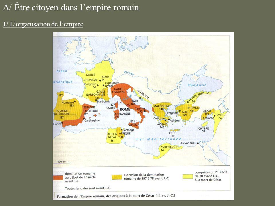 A/ Être citoyen dans l'empire romain