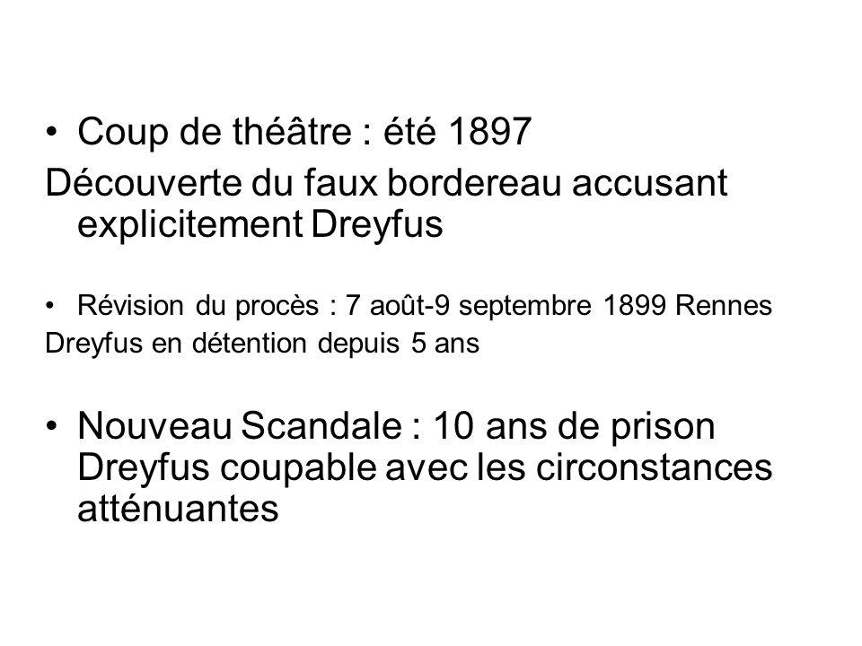 Découverte du faux bordereau accusant explicitement Dreyfus