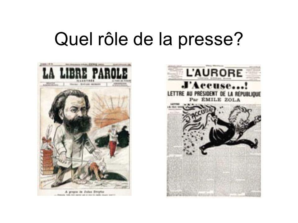 Quel rôle de la presse