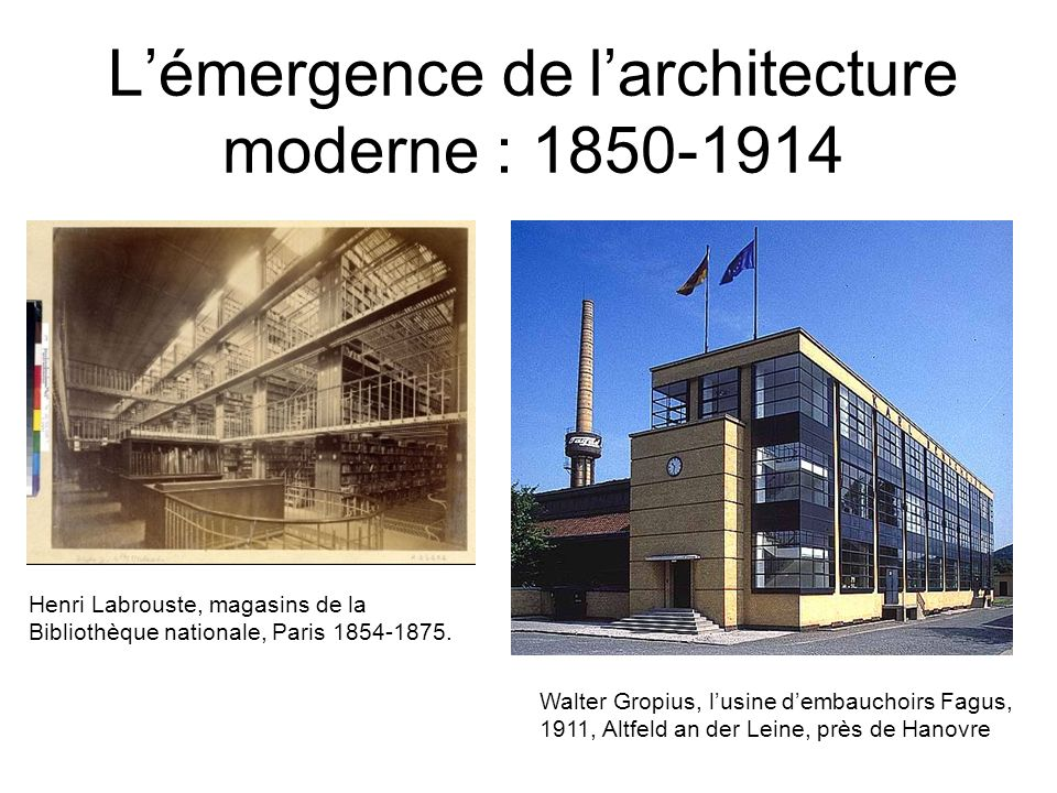 L mergence de l architecture moderne ppt video online for L architecture moderne