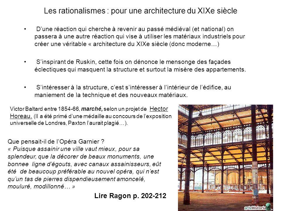Les rationalismes : pour une architecture du XIXe siècle