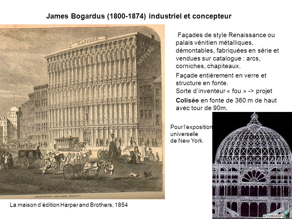 James Bogardus (1800-1874) industriel et concepteur