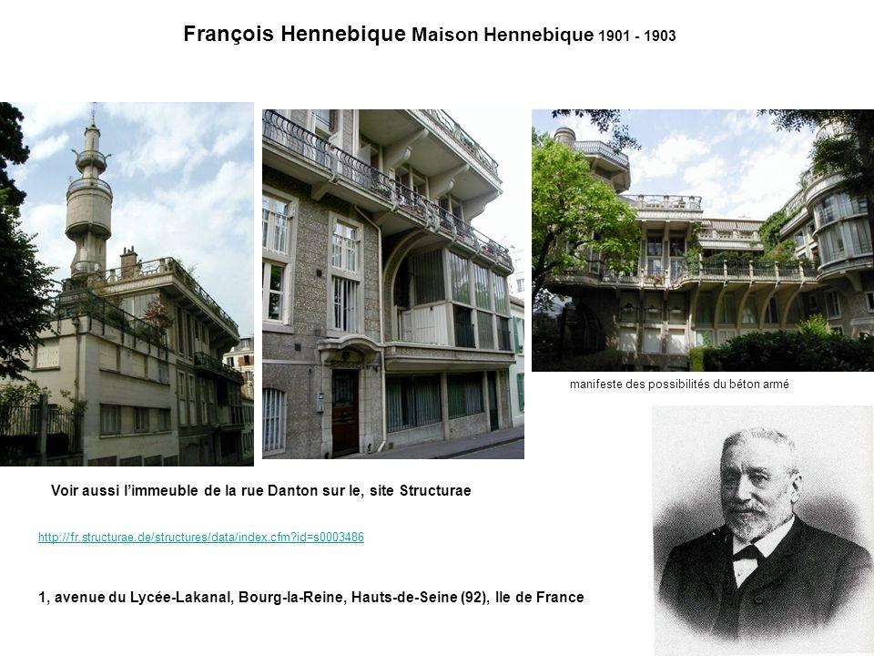François Hennebique Maison Hennebique 1901 - 1903
