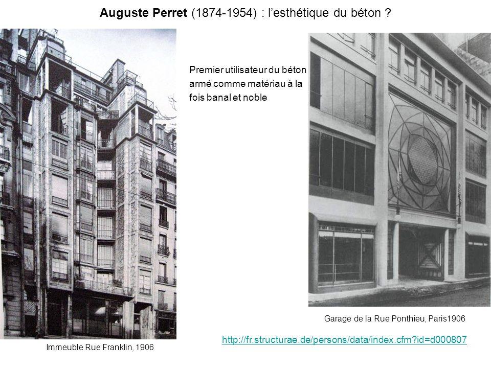 Auguste Perret (1874-1954) : l'esthétique du béton