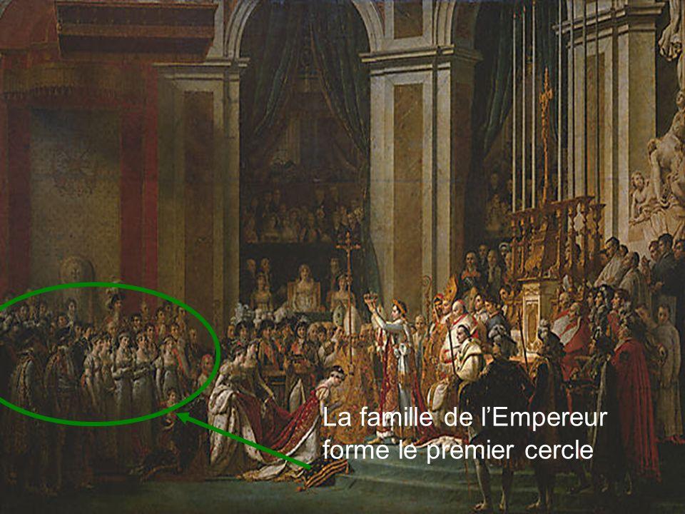 La famille de l'Empereur forme le premier cercle