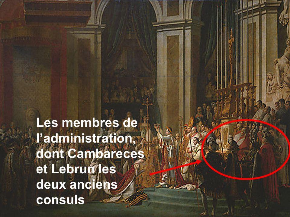 Les membres de l'administration, dont Cambareces et Lebrun les deux anciens consuls