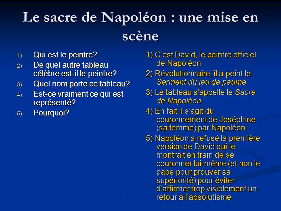 Le sacre de Napoléon : une mise en scène