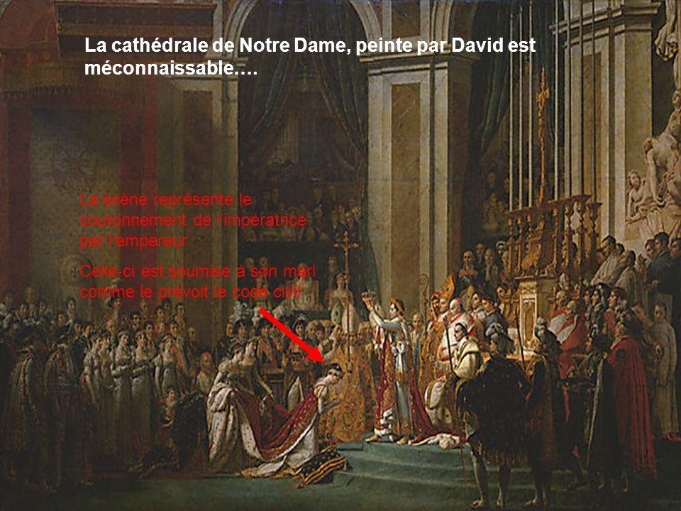 La cathédrale de Notre Dame, peinte par David est méconnaissable….