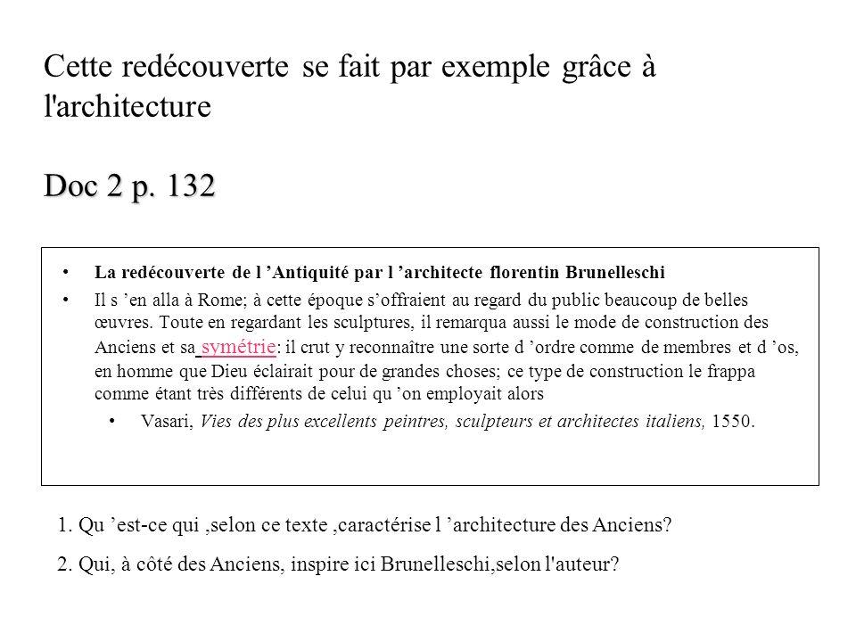 Cette redécouverte se fait par exemple grâce à l architecture Doc 2 p
