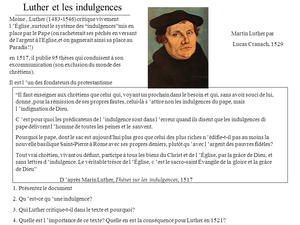 Luther et les indulgences