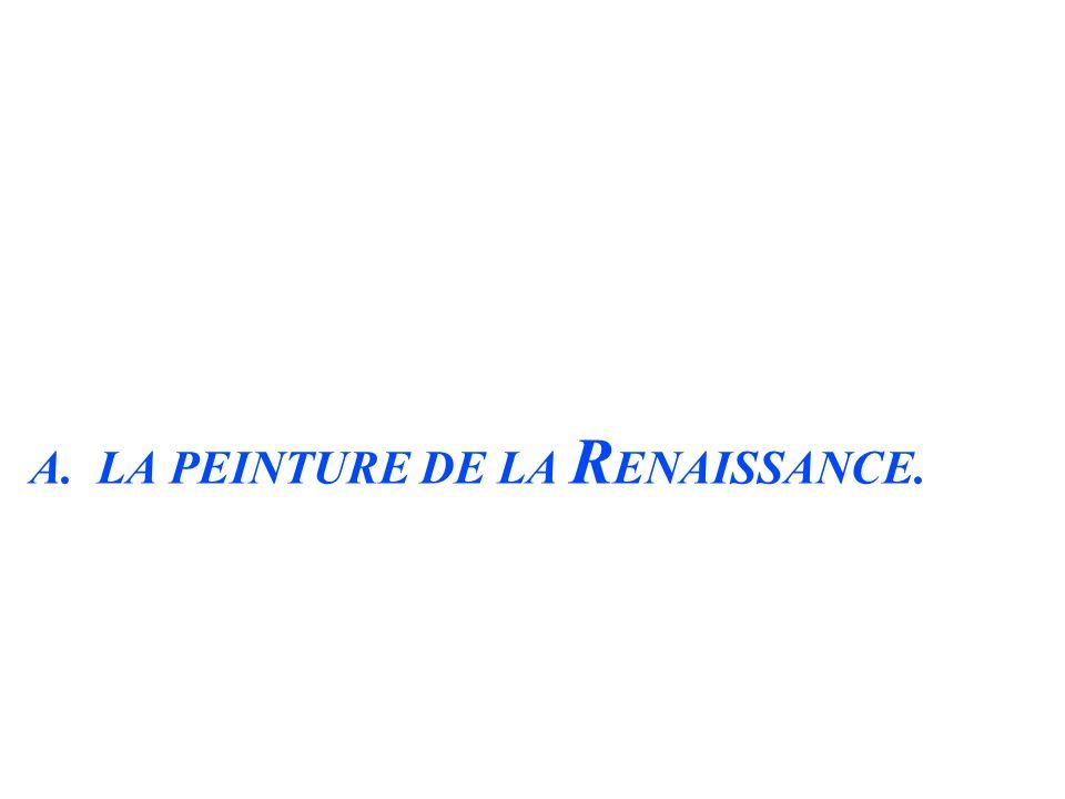 A. LA PEINTURE DE LA RENAISSANCE.