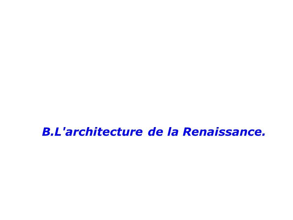 B.L architecture de la Renaissance.