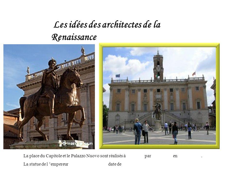 Les idées des architectes de la Renaissance