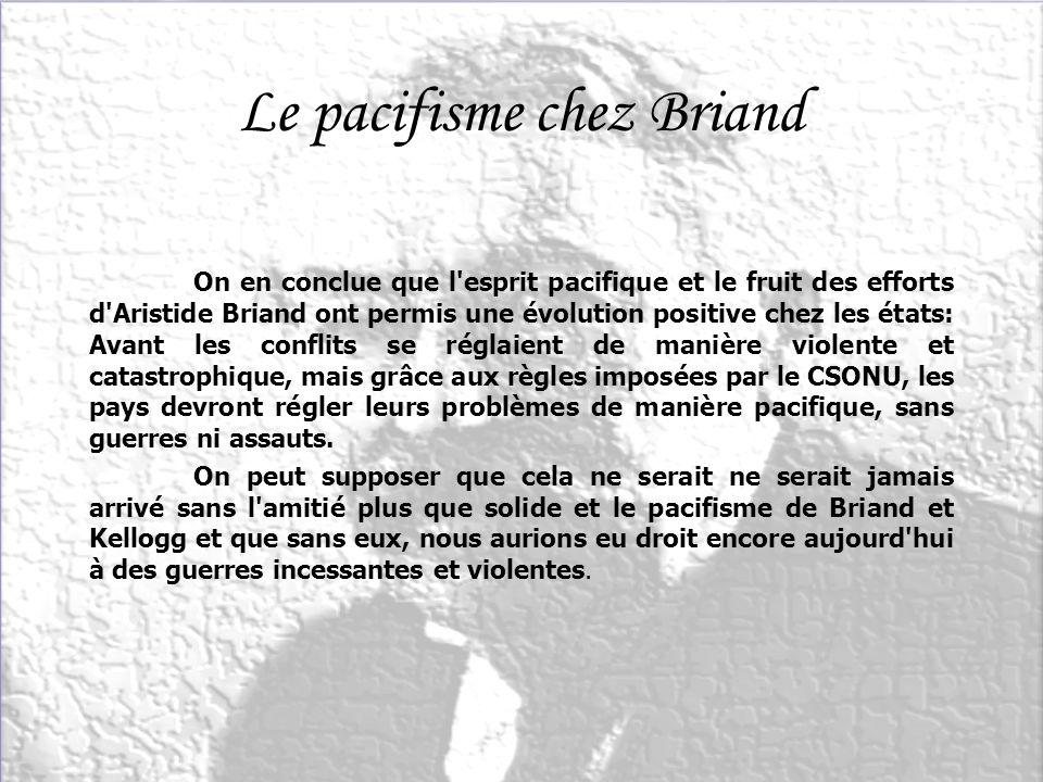 Le pacifisme chez Briand