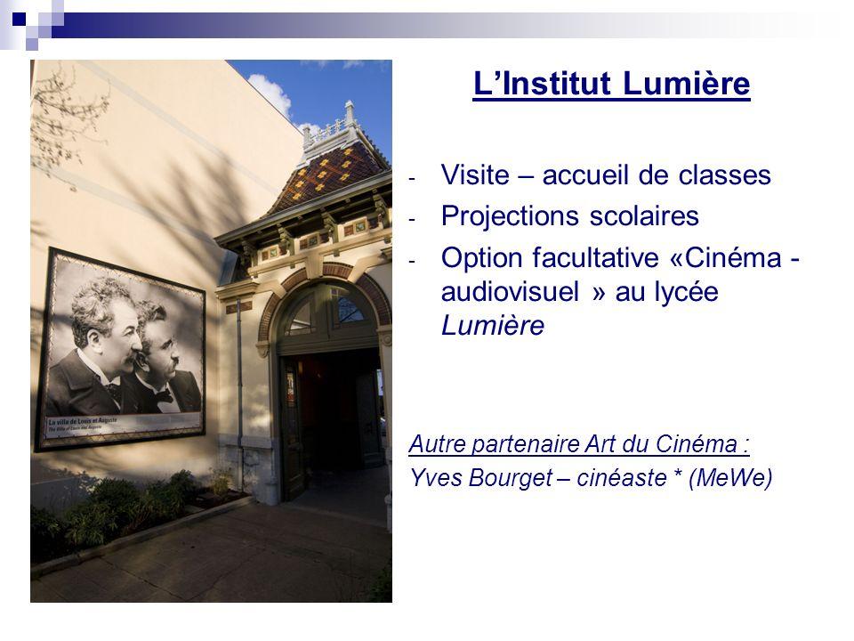 L'Institut Lumière Visite – accueil de classes Projections scolaires