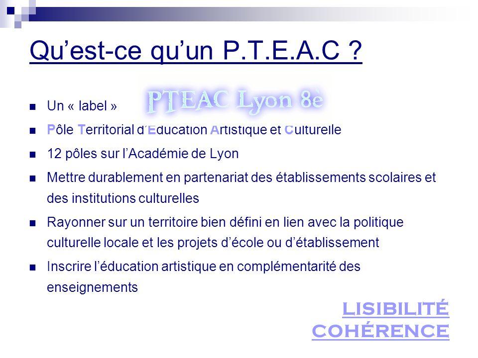 Qu'est-ce qu'un P.T.E.A.C LISIBILITÉ COHÉRENCE Un « label »