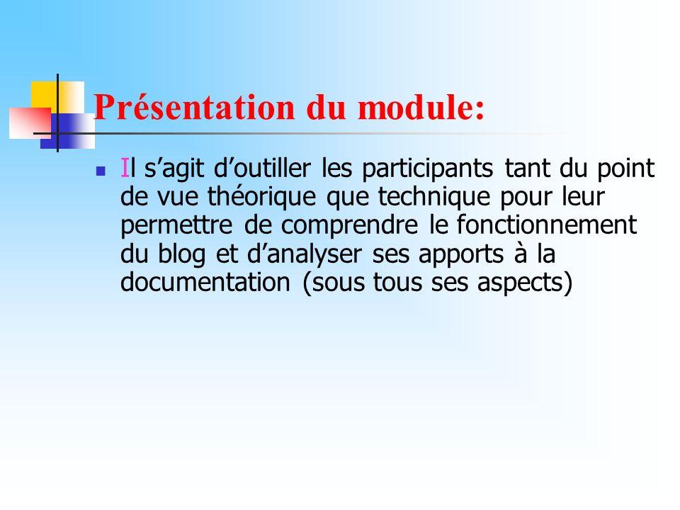 Présentation du module: