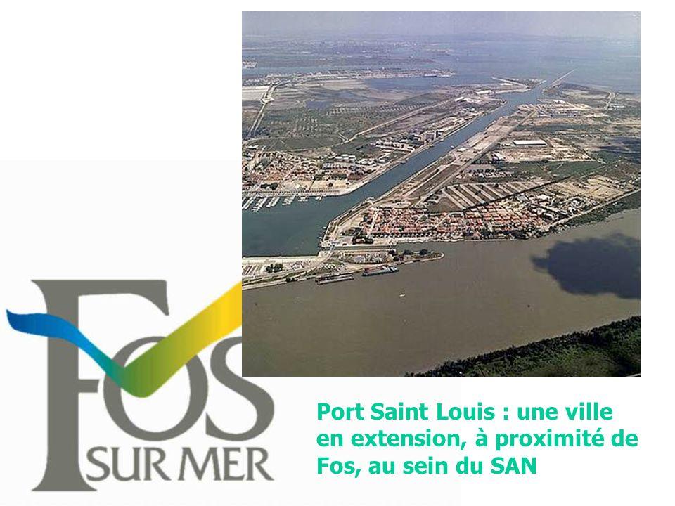 Port Saint Louis : une ville en extension, à proximité de Fos, au sein du SAN
