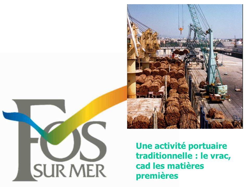 Une activité portuaire traditionnelle : le vrac, cad les matières premières