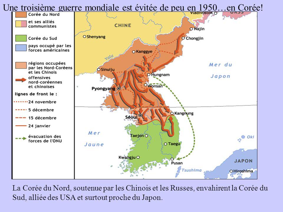 Une troisième guerre mondiale est évitée de peu en 1950…en Corée!
