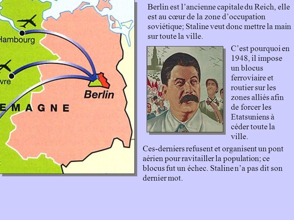 Berlin est l'ancienne capitale du Reich, elle est au cœur de la zone d'occupation soviétique; Staline veut donc mettre la main sur toute la ville.