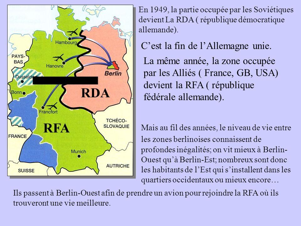 RDA RFA C'est la fin de l'Allemagne unie.