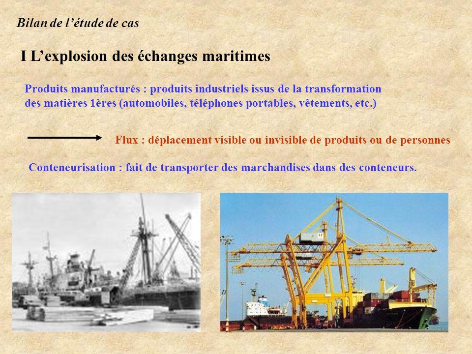I L'explosion des échanges maritimes