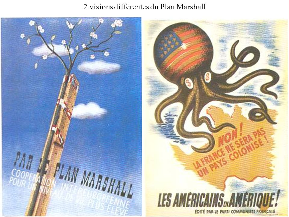 2 visions différentes du Plan Marshall