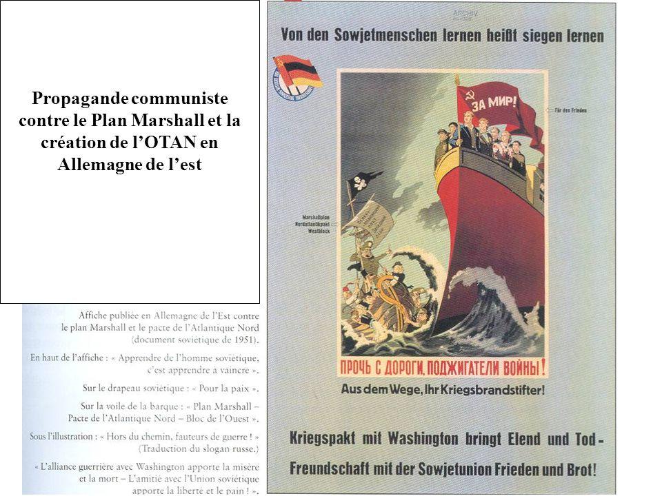 Propagande communiste contre le Plan Marshall et la création de l'OTAN en Allemagne de l'est