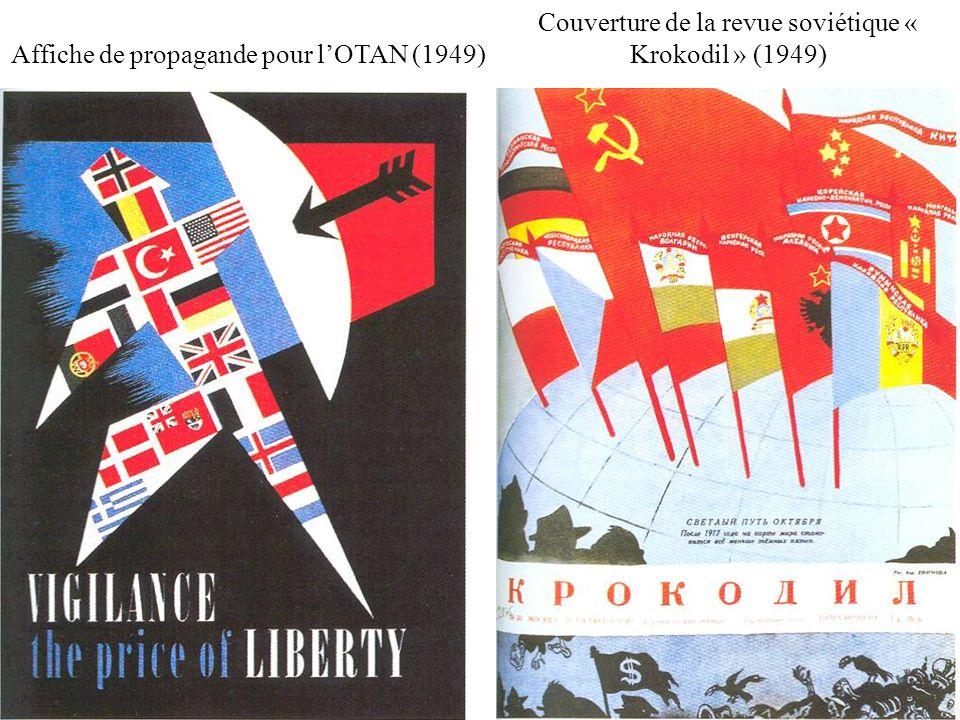 Couverture de la revue soviétique « Krokodil » (1949)