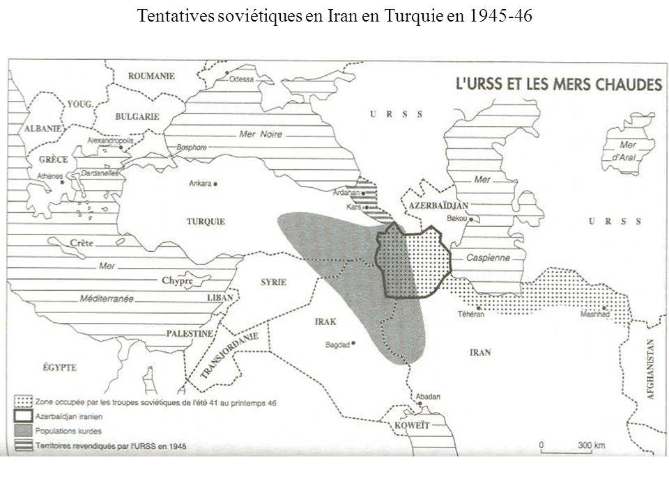 Tentatives soviétiques en Iran en Turquie en 1945-46