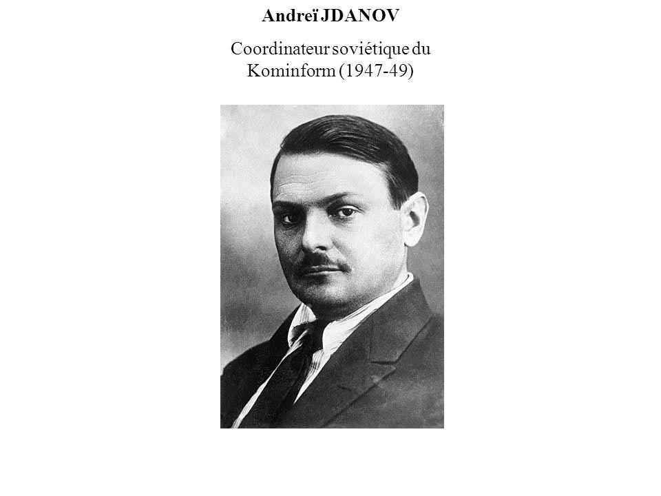Coordinateur soviétique du Kominform (1947-49)
