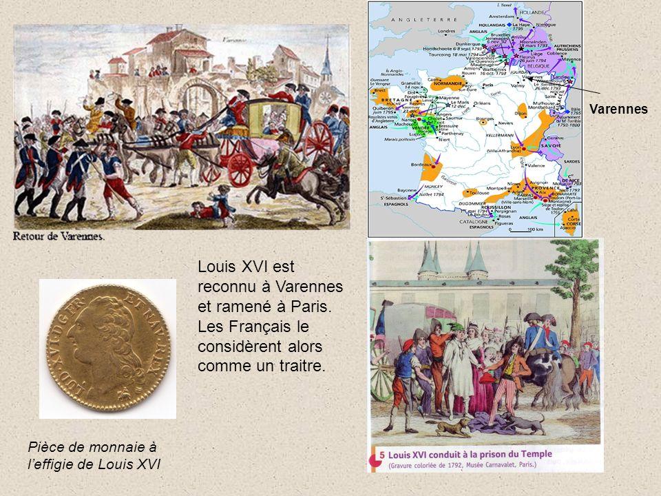 Louis XVI est reconnu à Varennes et ramené à Paris.