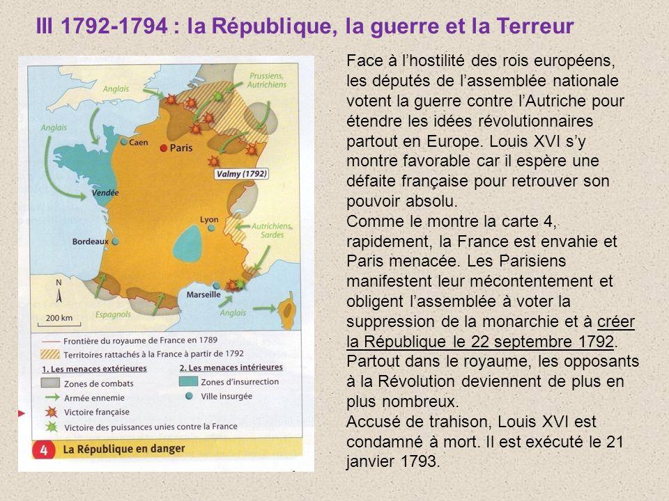 III 1792-1794 : la République, la guerre et la Terreur