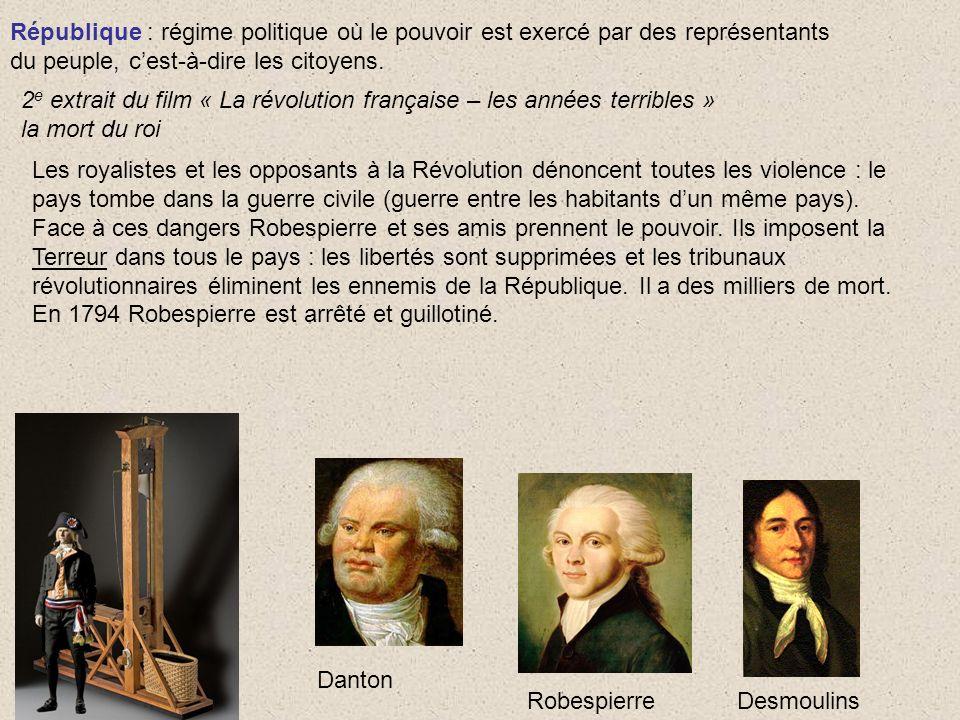 République : régime politique où le pouvoir est exercé par des représentants
