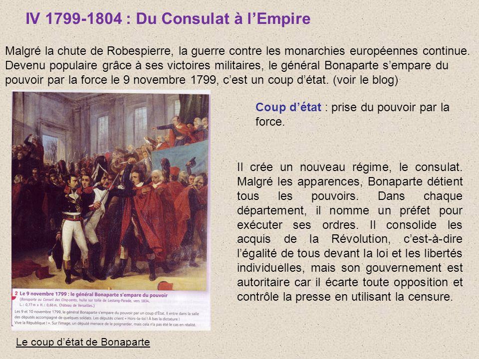 IV 1799-1804 : Du Consulat à l'Empire