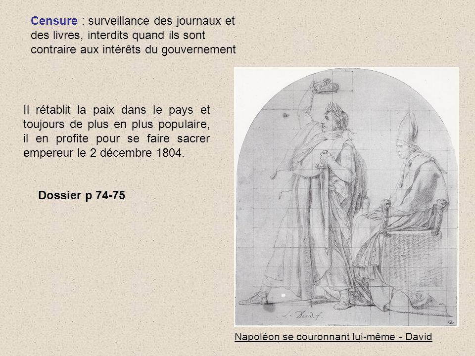 Censure : surveillance des journaux et des livres, interdits quand ils sont contraire aux intérêts du gouvernement