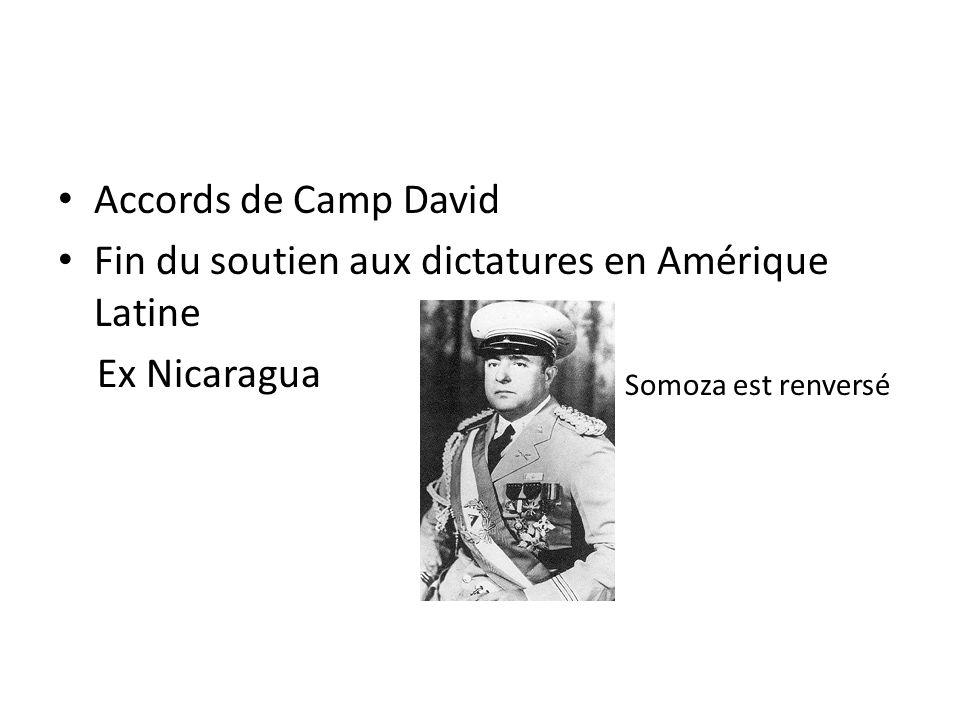 Fin du soutien aux dictatures en Amérique Latine Ex Nicaragua